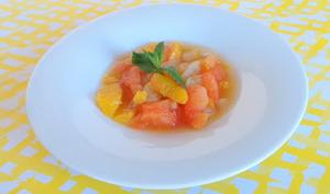 Salade d'agrumes tiède aux épices
