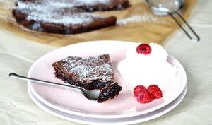 Gâteau au chocolat suédois «Kladdkaka»