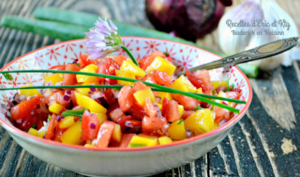 Salsa exotique sucré-salé de mangue au curcuma