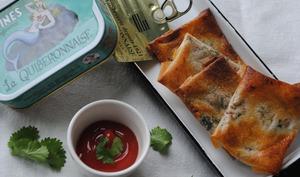 Petites bricks au beurre de sardines pour l'apéro