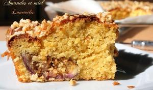 gâteau moelleux figues, miel et amandes