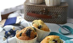 Muffins citron et myrtilles