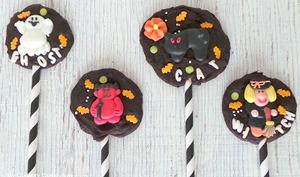 Sucettes en chocolat d'Halloween
