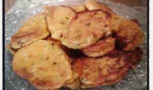 Galettes de patates douces à l'ail