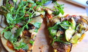 Pizza à la Courgette, Aubergine et Parmesan