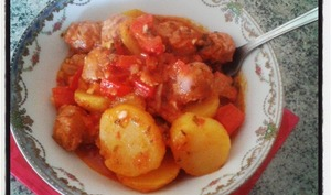Ragout de saucisses de Toulouse à la tomate et au cumin