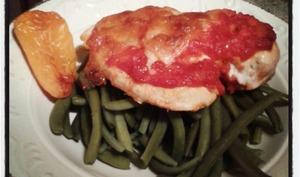 Filet de poulet gratiné à la mozzarella