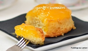 Puddings au lemon curd.