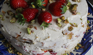 Big Cake aux Fraises et Vanille