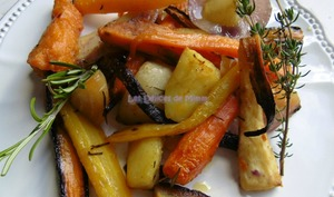 Légumes racines confits au four
