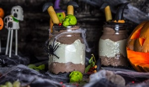 Cheesecake in a jar pour Halloween