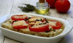 Pavé de lieu à la tomate et parmesan