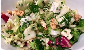 salade mélangée au gorgonzola