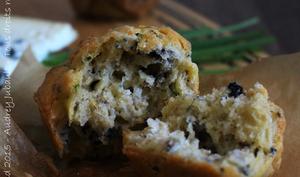 Muffins aux Noix et Roquefort
