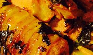 Pommes de terre à la suédoises et oeufs pochés