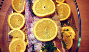 Rôti de porc à l'orange et au thym