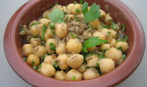 Salade orientale de pois chiches au cumin