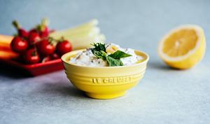 Creamy Dip Ricotta citron et herbes fraîches