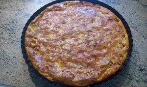 Quiche sans pâte aux lardons, jambon et fromage