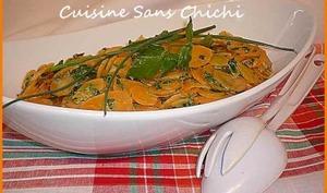 Salade de carottes cuites aux herbes fraîches