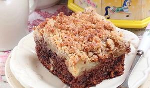 Gâteau aux noisettes, chocolat et pommes
