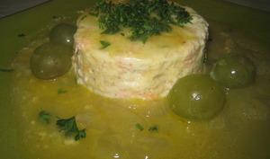 Mousse de saumon, sauce au raisin muscat