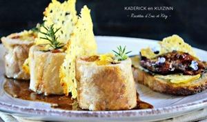 Ballotine poulet à l'Ossau Iraty et foie gras à la plancha