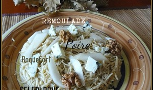 Rémoulade de céleri-rave à la poire et au roquefort
