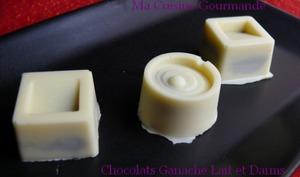 Chocolats fourrés à la Ganache Chocolat au Lait et Daims