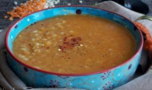 Pilaf de lentilles corail au curry