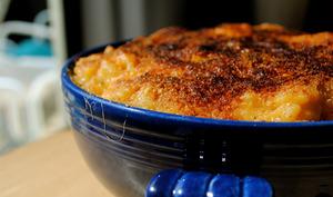 Gratin de pâtes macaronis au foie gras