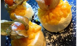 sablés à la mousse de citron et physalis
