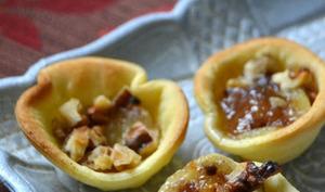 Mini tartelettes Maroilles et poire