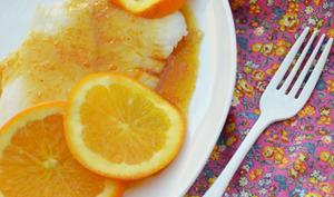 Flétan sauce au miel et à l'orange