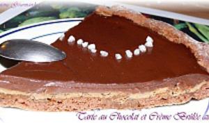 Tarte Chocolat et Crème Brûlée au café
