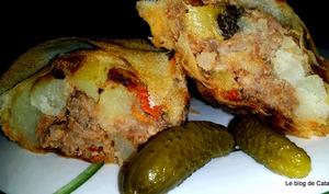 Byrek à la viande, courgette et pommes de terre