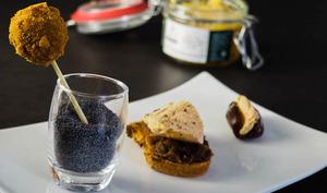Trio d'amuse-bouche au foie gras d'Alsace