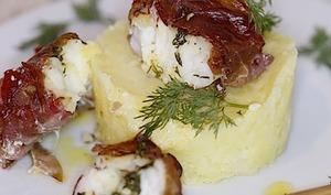 Rôtis de lotte au beurre d'aneth et brésaola