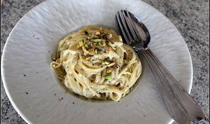 Spaghetti et linguini sauce au gorgonzola et roquefort