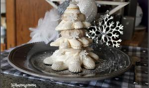 Sapins de Noel en meringue et crème de marron au mascarpone