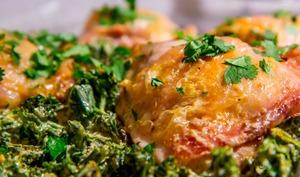 Curry de poulet au chou kale