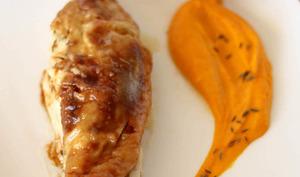 """Le poulet rôti au beurre """"pommade"""""""" citron et cumin"""