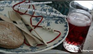 Vodka cranberries et myrtilles et Knäckelbröd