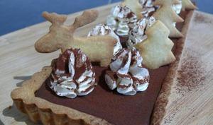Tarte Chocolat Caramel et Chantilly Vanillée