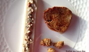 Filet de veau, purée de topinambours, tartare d'huitres, noisettes concassées et huitres pannées