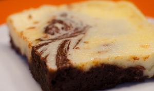 Brownie cheesecake marbré