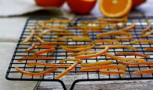 Écorces d'orange confites