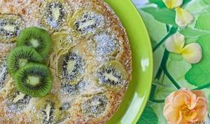 Un gâteau coco-kiwis