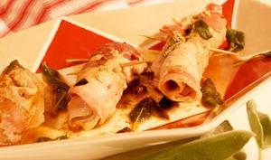 Saltimbocca de veau, sauge, jambon cru et mozzarella