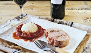 Rôti de porc basque Ossau Iraty jambon de Bayonne et piperade